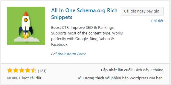 All In One Schema.org Rich Snippets – plugin schema cho wordpress