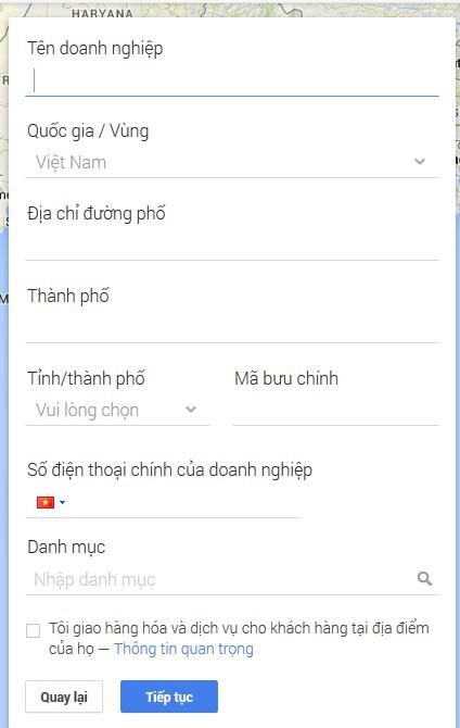 """Hướng dẫn cách đăng kí Google Maps cho doanh nghiệp """"Miễn Phí"""" 2"""