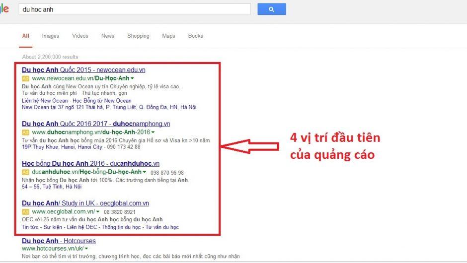 Quảng cáo Google Adwords tại Thái Nguyên Giá rẻ Uy Tín số 1