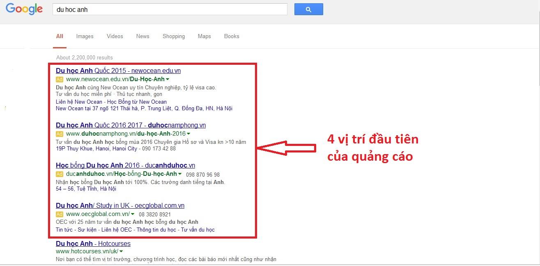 Quảng cáo Google Adwords tại Thái Nguyên Giá rẻ Uy Tín số 1 2