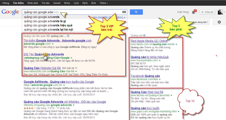 Dịch vụ chạy quảng cáo Google Adwords tại Quận Hà Đông giá rẻ