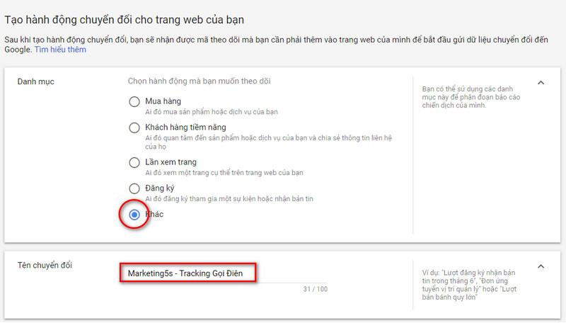 Các phương pháp theo dõi lượt chuyển đổi trong Google Ads