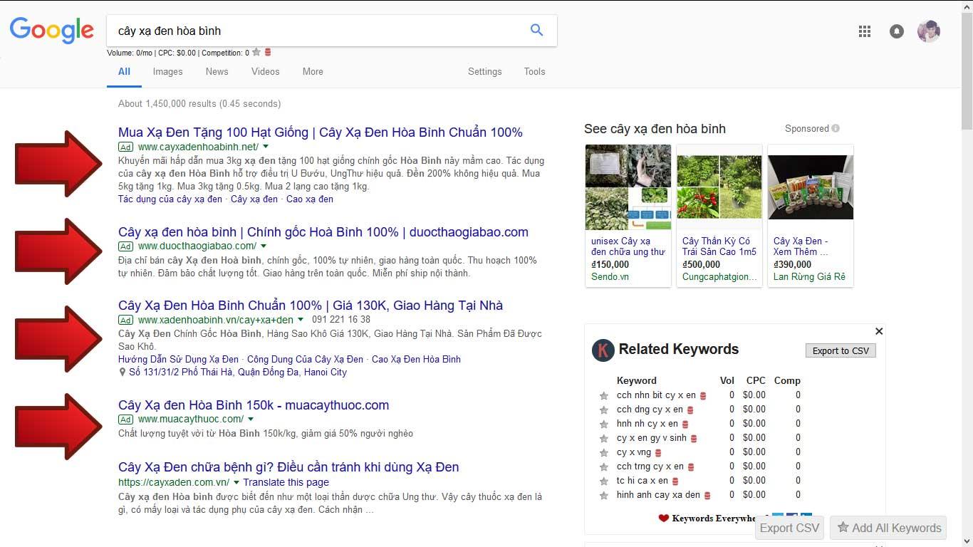 Chạy quảng cáo Adwords cho ngành Nông Sản Giá Rẻ Nhất 1