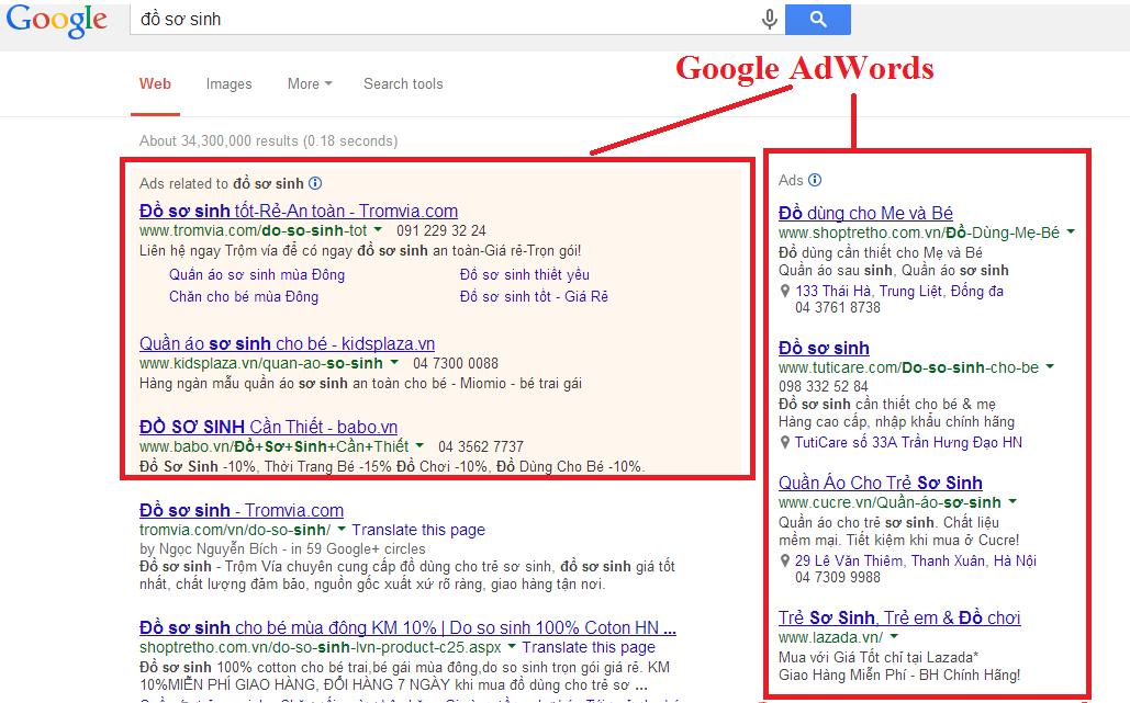 Chạy quảng cáo Google Adwords cho ngành Mẹ và Bé Giá Rẻ 1