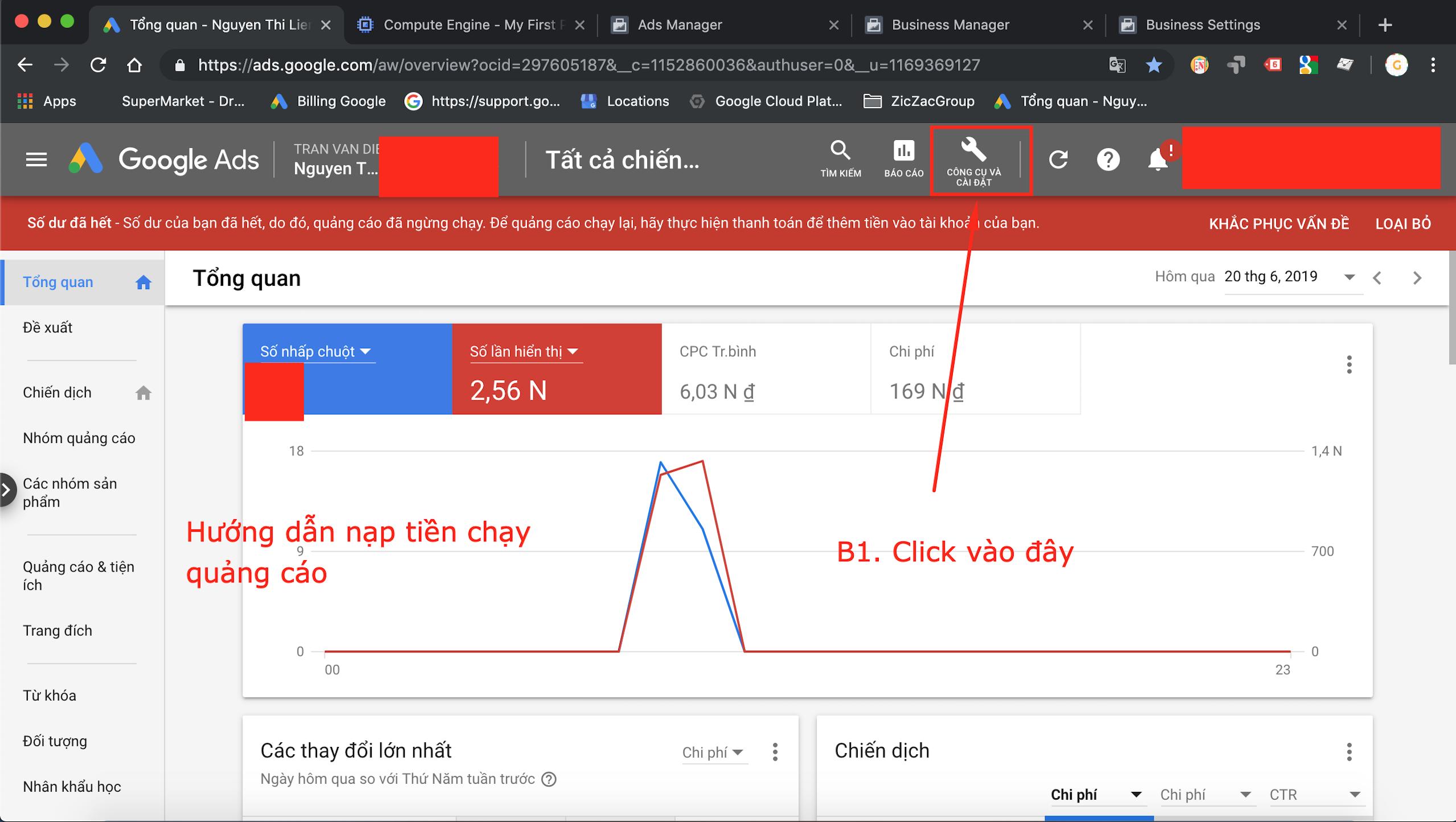 Cách nạp tiền vào tài khoản Google Adwords CHUẨN NHẤT 1