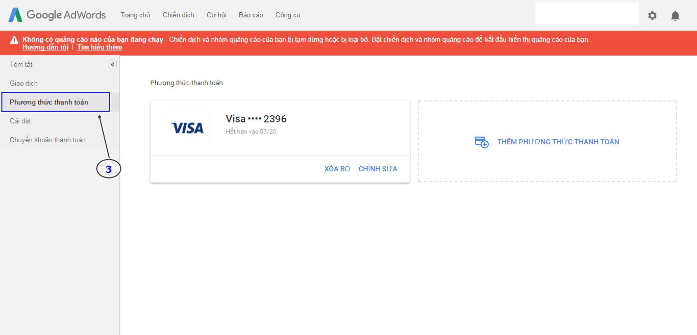 Thẻ nào có thể thanh toán Google Adwords tốt nhất hiện nay? 2