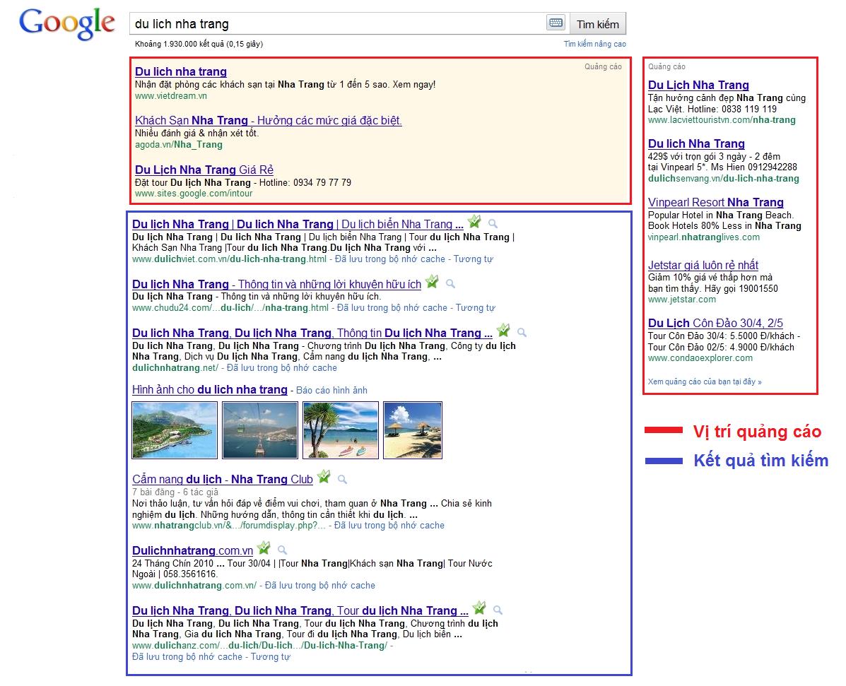 Dịch vụ quảng cáo google tại Nha trang