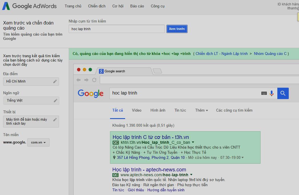 Tối ưu chiến dịch Google Adwords cần những gì2